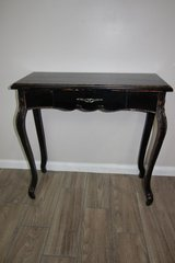 Distressed Black Wood Console Table in Kingwood, Texas