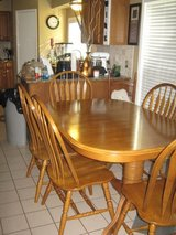 Solid wood dining table, 8 chairs and hutch. in Houston, Texas