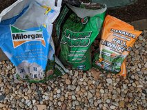 1/2 Used Fertilizer $10 for all or $5 each: Turf Food, Fall Lawn Food & Milorganite in Naperville, Illinois