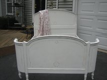 vintage SHABBY CHIC CURVED full BED in Naperville, Illinois