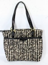 Coach Ocelot tote bag. Leopard black tan in Joliet, Illinois