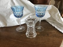 Waterford Crystal Goblets and candleholder/vase in Algonquin, Illinois