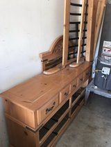 bed frame and dresser in Camp Pendleton, California