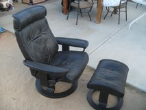 ==  Leather Recliner + Ottoman  == in Yucca Valley, California