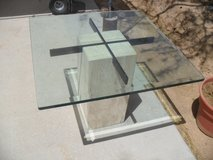+++  Travertine Glass Top Table  +++ in Yucca Valley, California