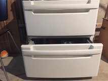 PAIR OF LG WASHER/DRYER PEDESTAL DRAWERS - $80 in St. Charles, Illinois