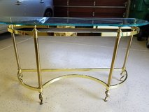 Glass & Brass Entry Table + Side Table in Camp Pendleton, California