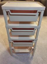 Rubbermaid Stackable 3 Drawer + 1 Basket Storage in Tinley Park, Illinois