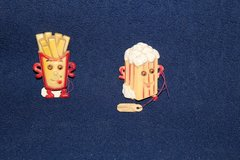 Vintage Refrigerator Magnets Drive in characters (REDUCED) in Alamogordo, New Mexico