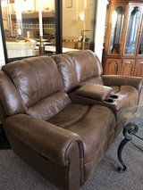 recliner loveseat with center console in The Woodlands, Texas