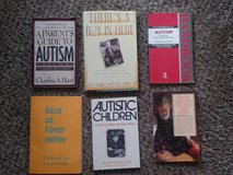 six books on Autism and the Autistic Child in The Woodlands, Texas