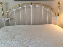 Headboard Queen all Brass in St. Charles, Illinois