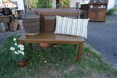 hand made oak bench in Spangdahlem, Germany