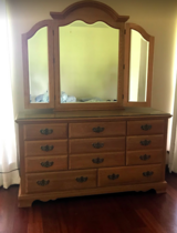 Queen Size Bed with nightstands in Leesville, Louisiana