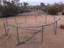 trampoline frame in Yucca Valley, California