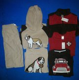 BNWT Boys 6pc. Set Gymboree Size 12 Cargo Pants, Hoodie, Vest, & Long Sleeved Shirts in Ramstein, Germany