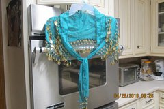 """Costume Accessory -- Womens Sheer Shoulder Cape """"Beaded"""" With Gold Coins in Kingwood, Texas"""