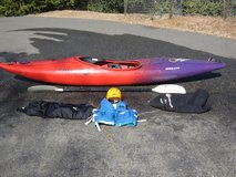 Perception Overflow Corsica Whitewater Kayak w/Accessories in Travis AFB, California