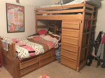 Oak twin captains bed with bunk in Fairfield, California