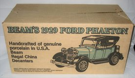 "JIM BEAM 1929 Ford Model ""A"" Phaeton Porcelain Decanter - Green - MIB in Joliet, Illinois"