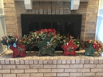 Custom Holiday Star Basket Set– 4 total (2 red and 2 green) in Conroe, Texas