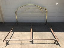 King Brass Headboard and Bed Frame in Spring, Texas