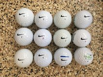 Dozen used Nike golf balls in Camp Pendleton, California