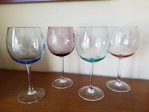 Set of 4 Marquis by Waterford polka dot wine glasses in Bolingbrook, Illinois