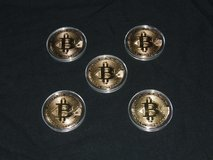 Bitcoin BTC Gold Plated Collectible Coin / Protective Case Impressive Detail! in Bolingbrook, Illinois