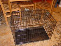 "24"" long black dog crate in Fort Carson, Colorado"