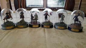 Six hand painted limited edition domed civil war sculptures in Fairfax, Virginia