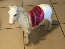 """18"""" Doll Our Generation White Horse w/ Saddle EUC Cute! in Travis AFB, California"""