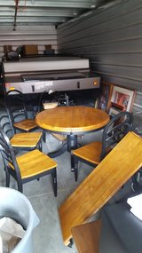 Solid wood table with 4 chairs in Fairfield, California