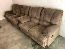 Reclining Couch & Love Seat in Cherry Point, North Carolina