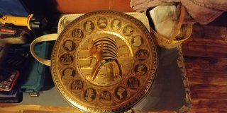 """Egyptian Style Metal Plate 16"""" in Fort Campbell, Kentucky"""