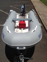 10' Zodiac boat with 15hp outboard motor and trailer in Fort Riley, Kansas