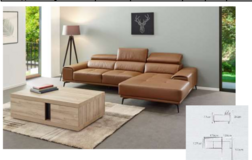 Freiburg Leather Sectional - NEW ITEM - in Cognac (as shown)  - including delivery in Spangdahlem, Germany