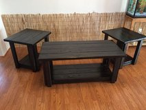 Handcrafted Coffee Table & 2 Side Table Set - Ebony in Tacoma, Washington