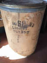 Collectible Eastman Manufacturing and Dow Chemicals packing Barrel in Byron, Georgia