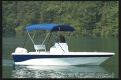 8ft Bimini Canopy Top Center Console Fishing Camping Blue Convertible Removable in Kingwood, Texas