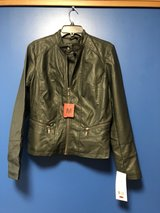 BERNARDO ARMY GREEN LEATHER JACKET MEDIUM (NEW) in Okinawa, Japan