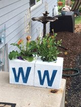*Cinder Block Planters* in Plainfield, Illinois