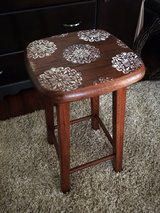 """Cute 24"""" refinished wood stool in Morris, Illinois"""