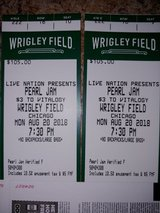 2 TICKETS Pearl Jam.   Monday Aug. 20...hard tickets..WRIGLEY FIELD in Chicago, Illinois
