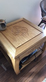 Japanese solid oak end tables and coffee table in Camp Pendleton, California