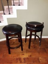 Backless  faux leather and wood bar stools in Houston, Texas