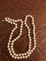 "Women's Vintage Ivory Marcella Faux Pearls 28"" long, Excellent Condition in Hampton, Virginia"