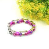 Bracelet Bicycle Chain For Women Pink, Crystal Motorcycle Chain Bracelets Hot Jewelry Stainless ... in Alamogordo, New Mexico