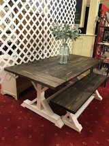 Farm table and bench new and ready to go in Fort Polk, Louisiana