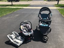 Car seat, stroller, and extra base in Joliet, Illinois